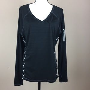 ATHLETA | black long sleeve zinger running top L